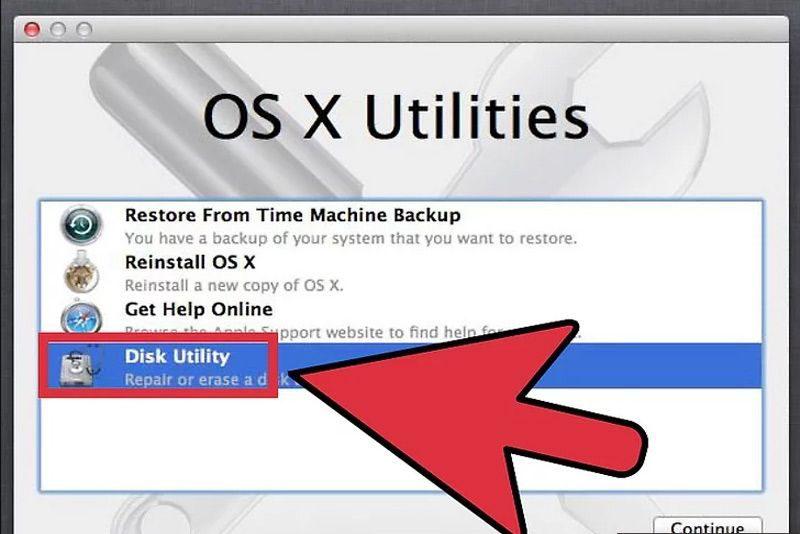 Chọn ổ đĩa Disk Utility